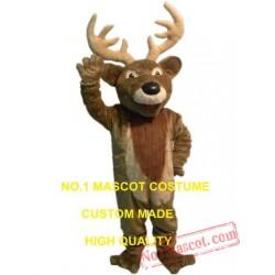 Plush Reindeer Moose Mascot Costume