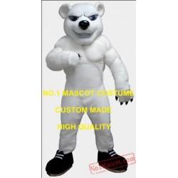 Anime Cosply Costume White Muscle Polar Bear Mascot Costume