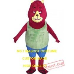 Red Bear Mascot Costume