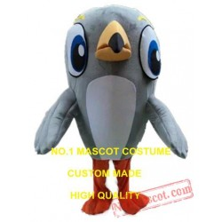 Grey Woodpecker Mascot Costume