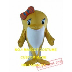 Brown Dolphin Mascot Costume