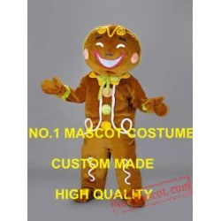 New Arrival Ginger Bread Man Mascot Christmas Costumes