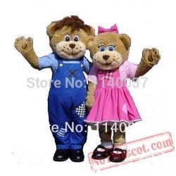 2Pcs Farm Bears Mascot Costume