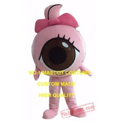 Cute Black Eyeball Mascot Costume