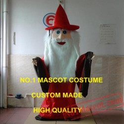 New Red Coat Wizard Mascot Costume