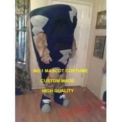 Blue Tornado Mascot Costume