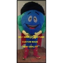 Super Hero Globe Earth Mascot Costume