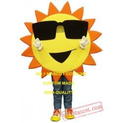 Cool Sunny Summer Sun With Sunglasses Mascot Costume