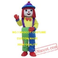 Halloween Clown Girl Mascot Costume