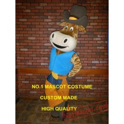 New Dairy Cow Cowboy Mascot Costume