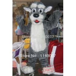 Grey Dog Mascot Costume