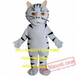 Small White Tiger Mascot Costume