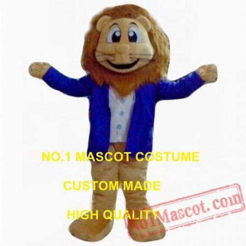 Blue Coat Lion King Mascot Costume