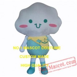 Cute Rain White Cloud Baby Mascot Costume