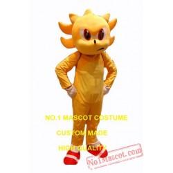 Popular Cartoon Golden Super Hedgehog Mascot Costume