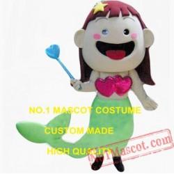 Valentine'S Day Mermaid Mascot Costume