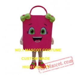 Pink Shopping Bag Mascot Costume