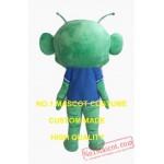 The Big Head Green Alien Mascot Costume