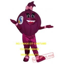 Purple Onion Mascot Costume
