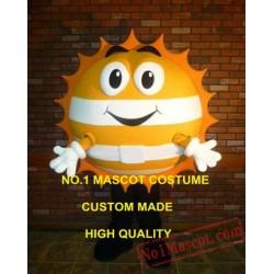 Cute Goden Happy Sun Mascot Costume