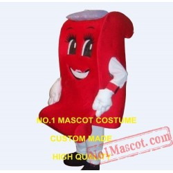 Red Sofa Couch Mascot Costume