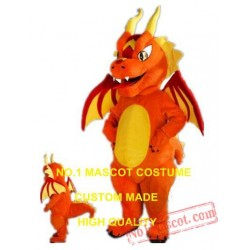 Fiery Dragon Mascot Costume