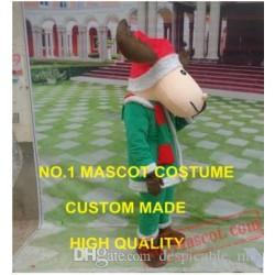 Christmas Reindeer Moose Mascot Costume
