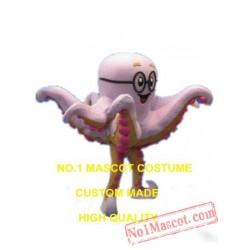 Custom Pink Octopus Mascot Costume