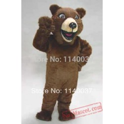 Happy Grizzly Mascot Costume