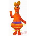 Orange Monster Mascot Costume
