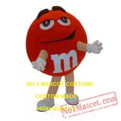 Red Chocolate Bean Mascot Costume