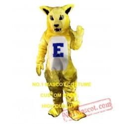 Yellow Electric Cat Mascot Costume