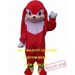 Popular Cartoon Kunckles Echidna Mascot Costume