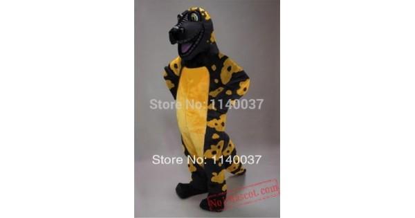 db4898cd24db Black And Yellow Gila Monster Mascot Costume