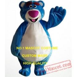 Hot Cartoon Character Blue Bear Mascot Costume