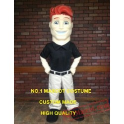 Red Hair Man Mascot Costume
