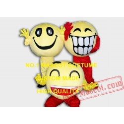 Big Laugh / Happy / Smile Face Mascot Costume