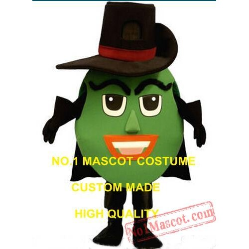 Advertising Anime Cosply Costumes Cool Green Olive Man Mascot Costume