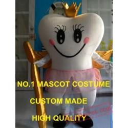 Golden Queen Teeth Tooth Mascot Costume