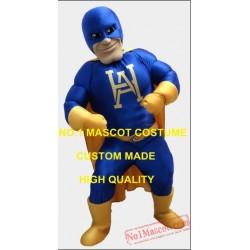 Blue Superhero Superman Mascot Costume
