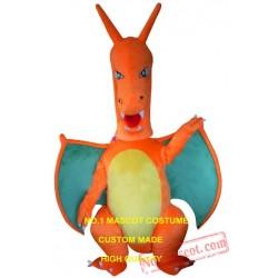 Custom Orange Pterodactyl Pterosauria Pterosaurs Dragon Dino Mascot Costume