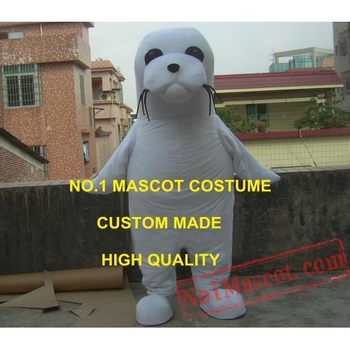 Anime Cosply Costumes Cute White Seal Mascot Costume