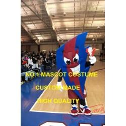 Blue & Red Bolt Mascot Costume