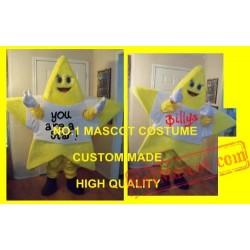Beautiful Yellow Star Mascot Costume