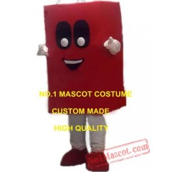 (Can Print Logo) Advertising Red Hand Shopping Bag Mascot Costume