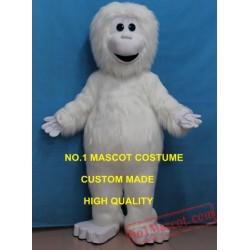 New Anime Cosply Costumes White Monkey Yeti Mascot Costume
