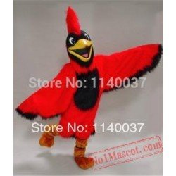 Bright Red Parrot Cardinal Mascot Costume