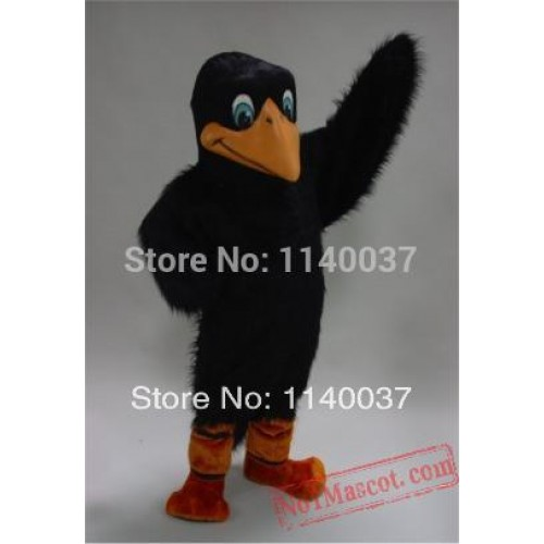 Long Hair Crow Mascot Costume