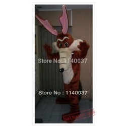 Coyote Mascot Adult Size Cartoon Character Mascotte Outfit Suit Ems Free Shipping