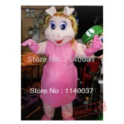 Fast Delivery Miss Piggy Mascot Costume